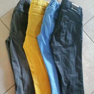 4 Pair Of Colour Jeans For Boys $10 Each