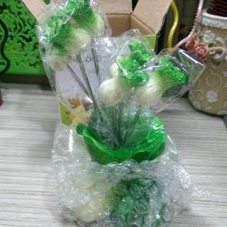 造型水果叉-翠玉白菜