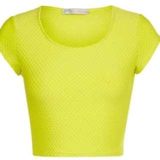 Factorie Lime Green Crop Top