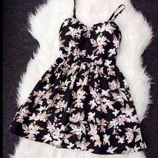BNWOT- Black Floral Bustier