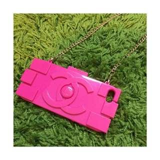 iPhone 5/5s 潮流Chanel 香奈兒 小香 積木包造型 矽膠保護殼 軟殼 手機殼 手機套 粉桃色 桃紅