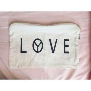 Love 小帆布袋 可當化妝包 手拿包