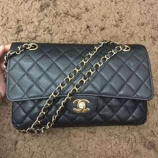 Chanel Bag Medium Size Cavies Skin.