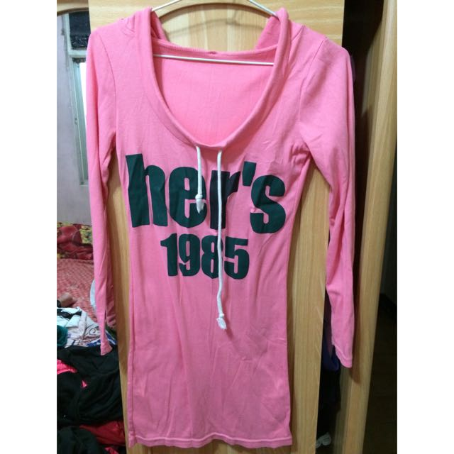 粉色長版衣
