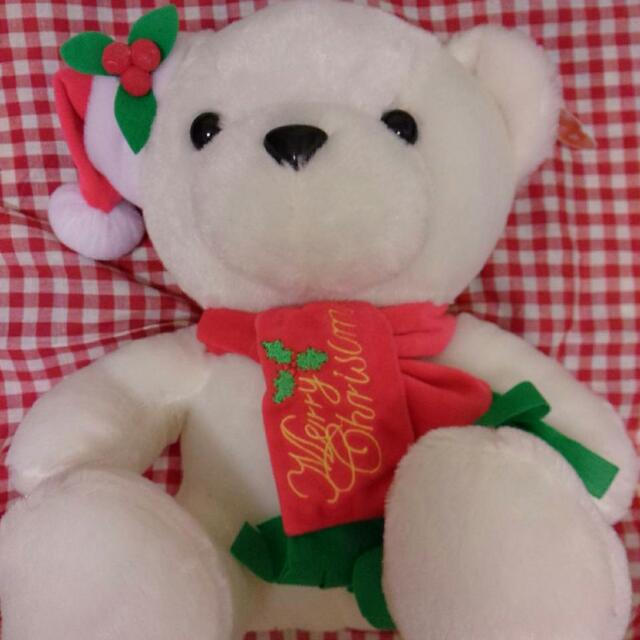 白色聖誕熊