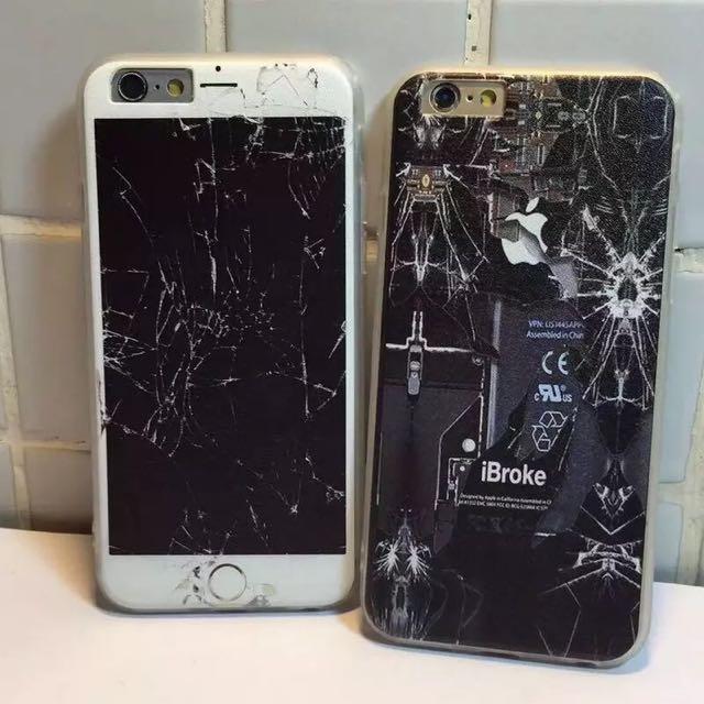 惡搞破碎螢幕手機殼