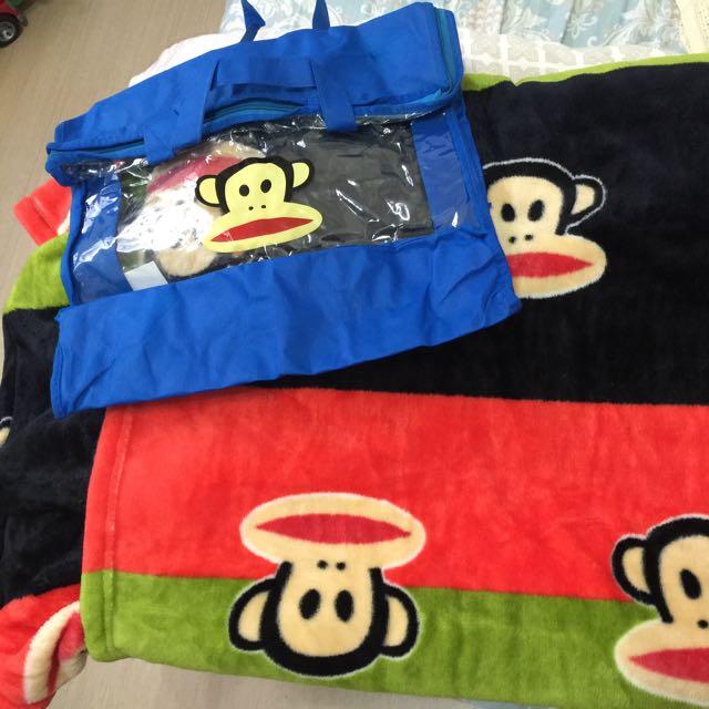 全新 大嘴猴毛毯150*190