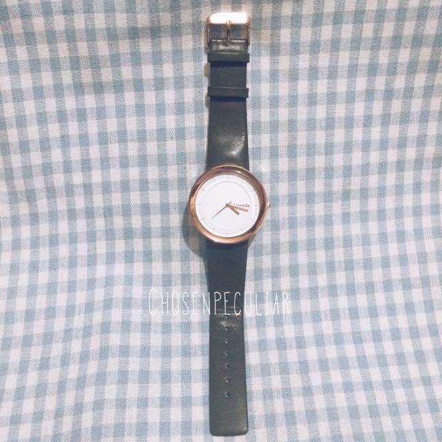 墨綠色錶帶 玫瑰金錶面手錶⌚️