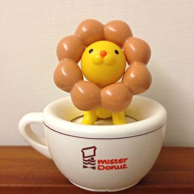 全新限量絕版 Mister Donut 波堤獅 旋轉咖啡杯