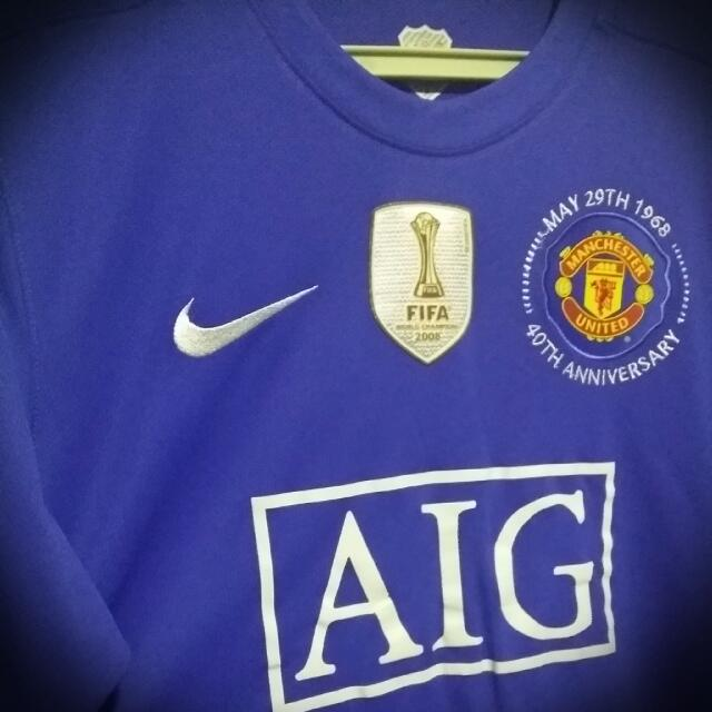 7c38d6e1d Authentic Manchester United 2008 3rd Kit with VIDIC 15 printing and ...