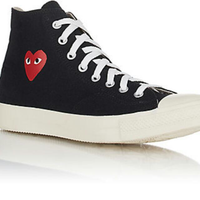 7ea6c525953095 Converse x Comme des Garcons Play CDG black chuck Taylor in UK 10.5 ...