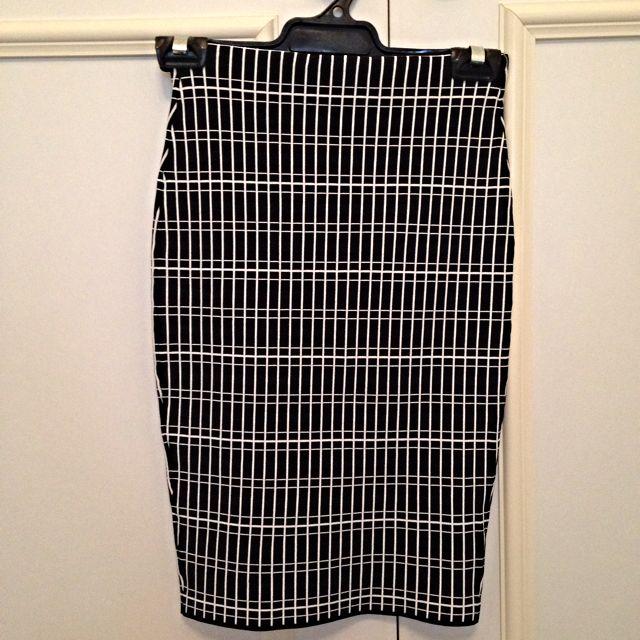 Forever New Check Midi Skirt