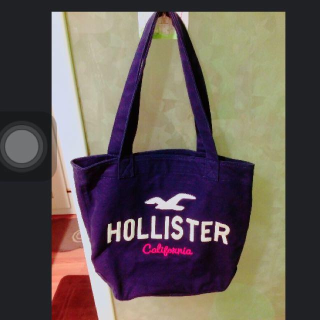 Hollister深藍側背
