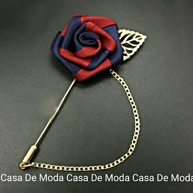 Pre-order] Rose Satin with Chain Lapel Pin, Brooch, Collar
