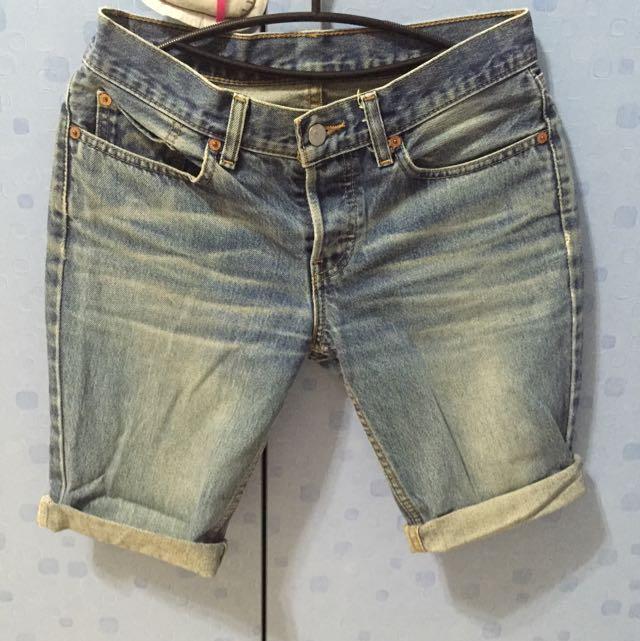 Levis牛仔短褲 W28