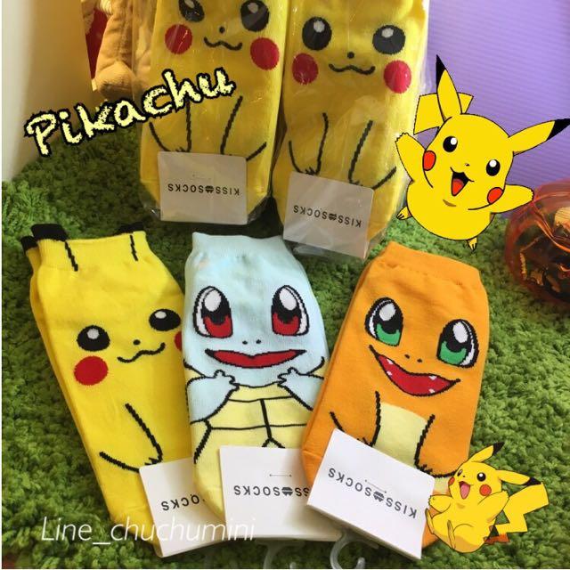 皮卡丘神奇寶貝pikachu Korea棉襪