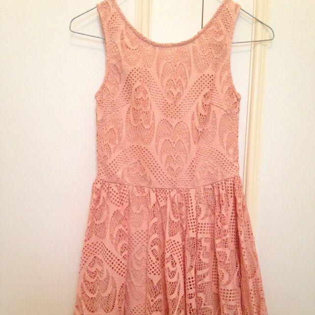 Pink Lace Dress Small