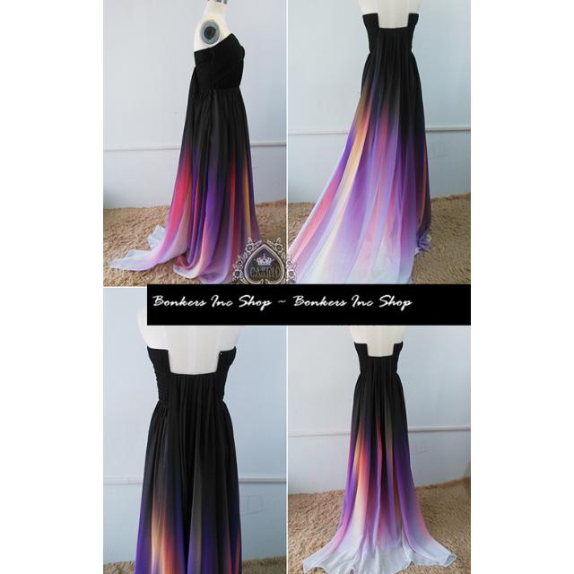 8b4048fccb Pre order Elie Saab purple dip dye tube bustier elegant night dinner evening  prom party wedding dress gown ombre gradient
