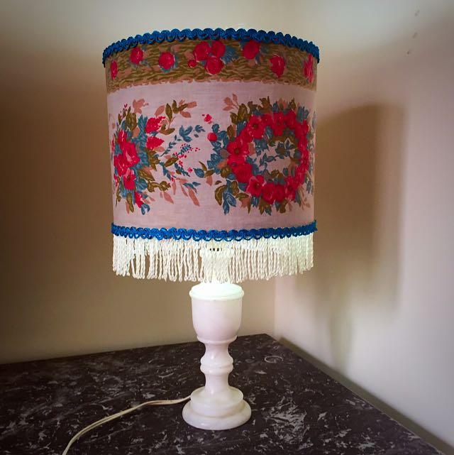 Vintage Fringed/floral Lamp *MAKE ME AN OFFER*
