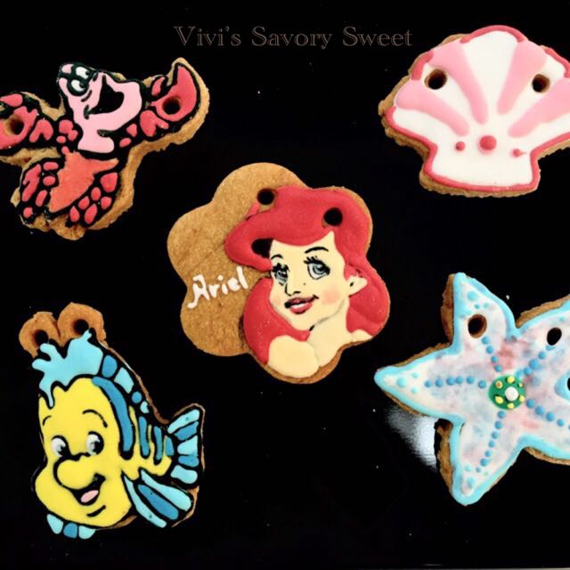 Vivi's Savory Sweets 小美人魚 客製化糖霜餅乾 (訂做生日禮物、收涎餅乾、婚禮小物)