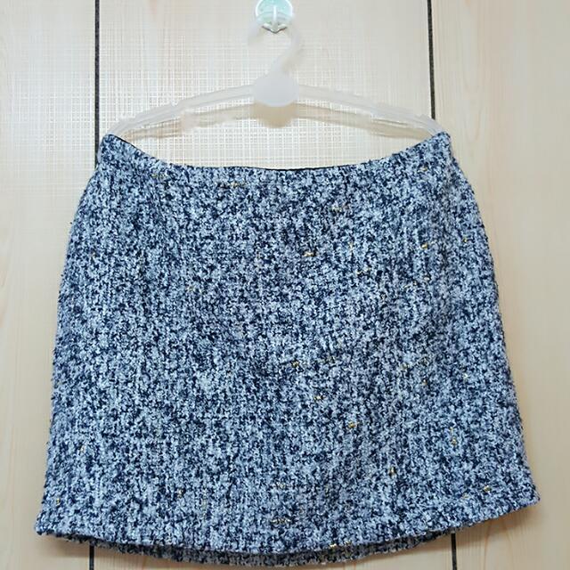 【全新灰色毛料包臀短裙】XS~S號可穿
