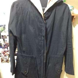 長版風衣外套有腰身
