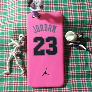 Jordan23粉紅色手機殼 霧面硬殼 二手 Iphone6適用