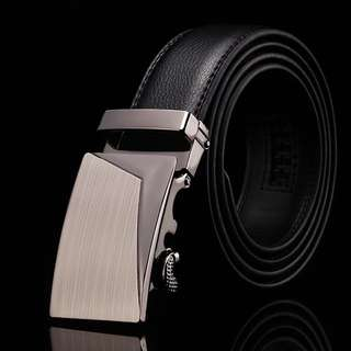 Men's Belt - Soft Leather Belt With Buckle (125cm)