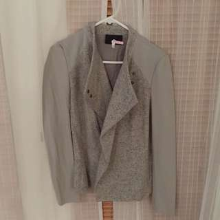 Grey Wool Jacket For Ladies