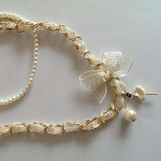 Pre loved Necklace With Pearls