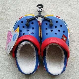 全新crocs毛毛LEGO鞋 C8/9