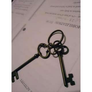🔯 復古銅色鑰匙圈 🔯