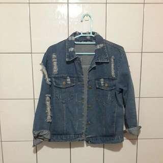 #女裝五折出清👍 Queenshop 牛仔外套