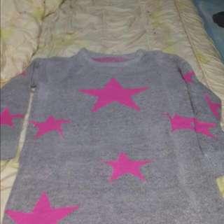 灰色星星⭐⭐長版衣
