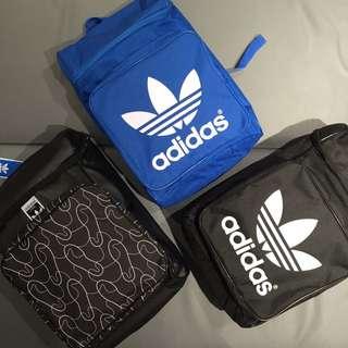 Adidas Originals 基本款後背包 三葉草大logo