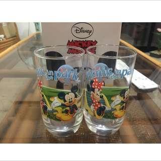 正版米奇玻璃杯組(兩入-全新)