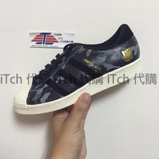 Adidas x Undefeated x Bape 80s 黑迷彩