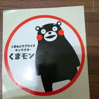 日本熊本貼紙
