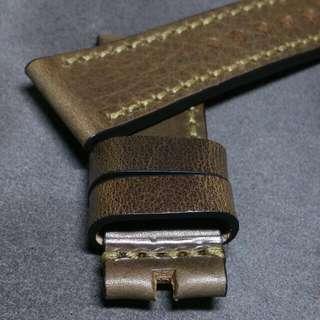 28mm RAW Douglas 148 Leather Straps (Dark G) for Sevenfriday watch