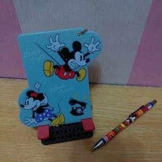 Disney組裝式手機架+自動筆