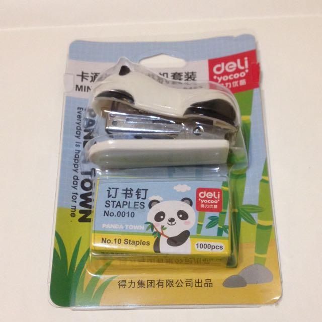可愛熊貓釘書機
