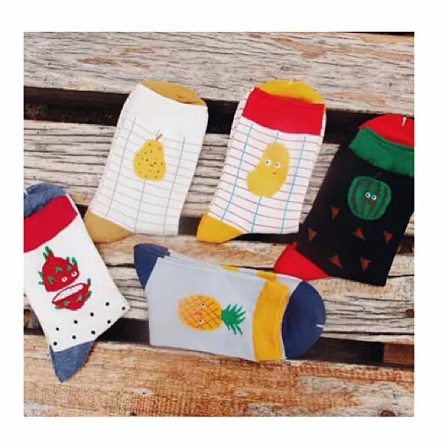 五雙水果襪優惠價📢