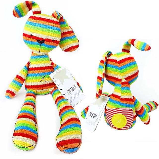 新款彩虹安撫兔