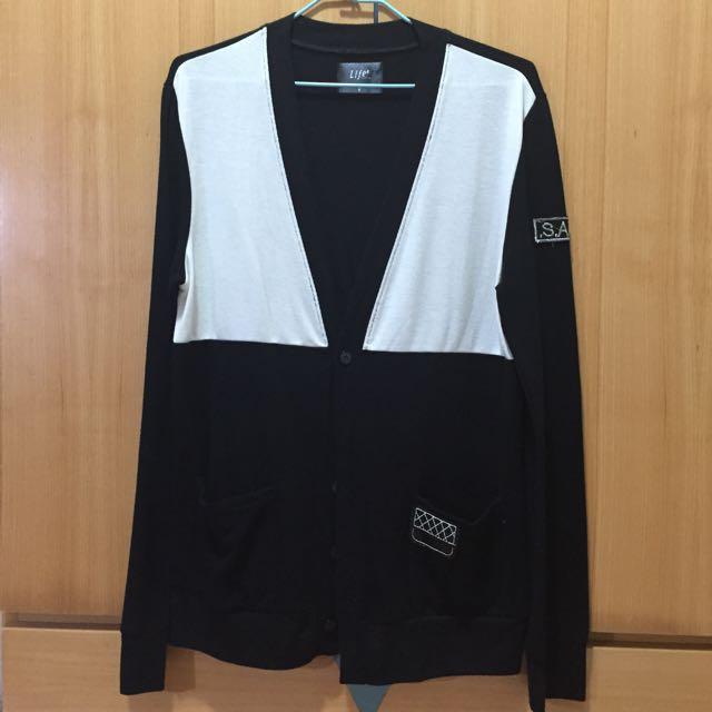 黑白針織衫