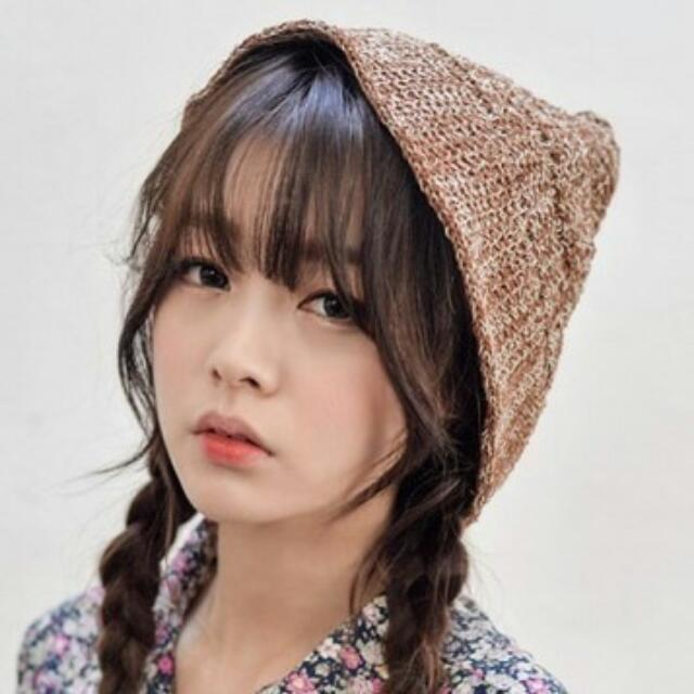 韓版可爱提花圖案針織毛線帽子