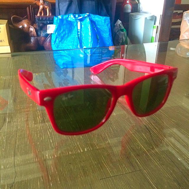 太陽眼鏡 火紅色