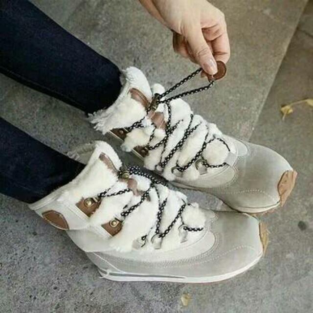 正韓 內增高綁綁雪靴