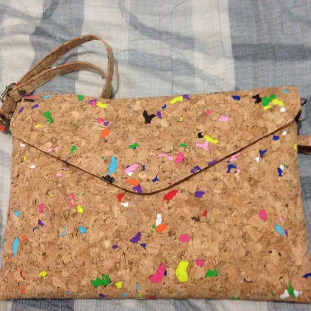 仿軟木塞材質 信封包😊😊
