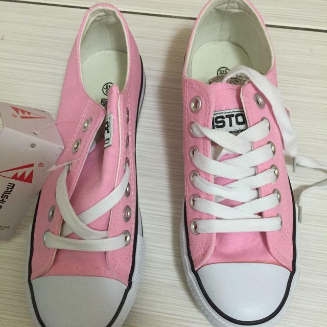 粉色 帆布鞋 💓