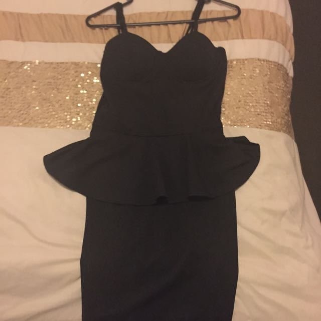Boohoo Peplum Dress